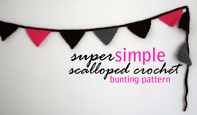 Bunting pattern small